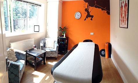Treatment room, Wirral Sports Massage, West Kirby